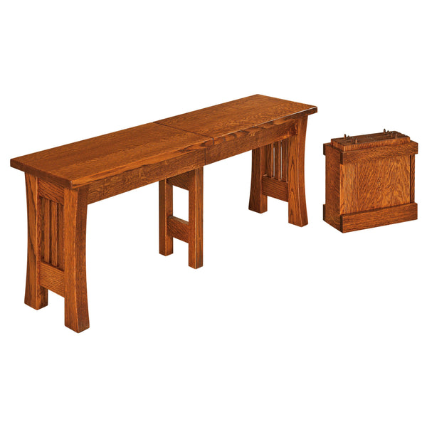 Arts & Crafts Extend-A-Bench-The Amish House