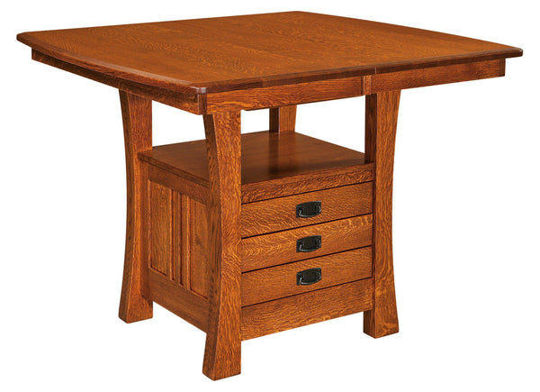Arts & Crafts Cabinet Dining Table-The Amish House