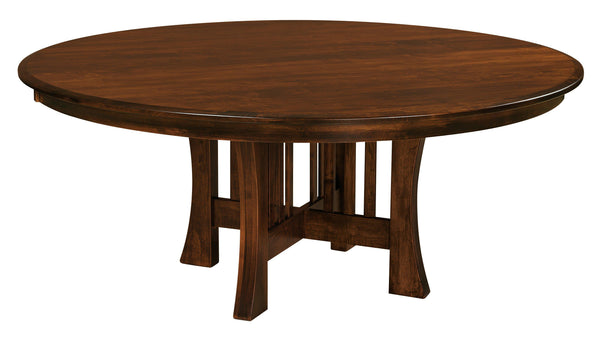 Arts & Crafts Pedestal- Dining Table-The Amish House