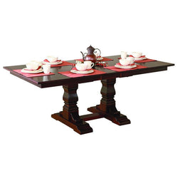 Amish Ashville Double Pedestal Table-The Amish House