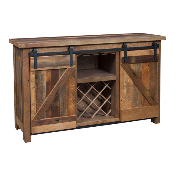 Barn Door Wine Server-The Amish house