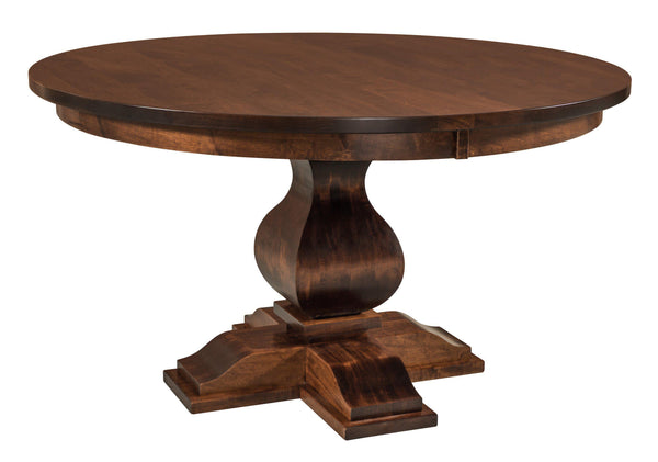 Barrington Single Pedestal Dining Table-The Amish House