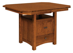 Bassett Cabinet Dining Table-The Amish House