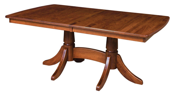 Baytown Double Pedestal Dining Table-The Amish House
