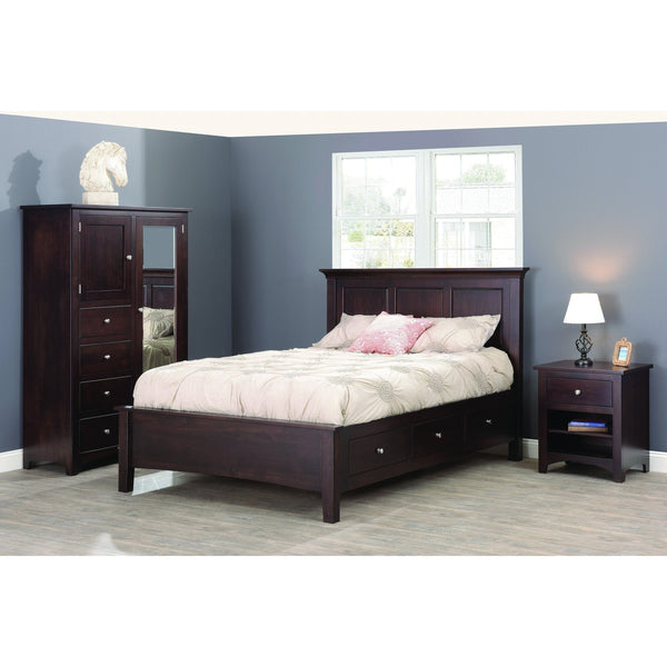 Ellington Three Drawer Nightstand-Bedroom-The Amish House