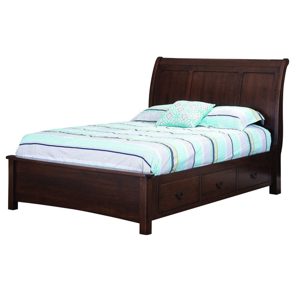 Hyde Park Low Footboard Bed-Bedroom-The Amish House