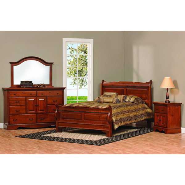 Merlot Nightstand-Bedroom-The Amish House