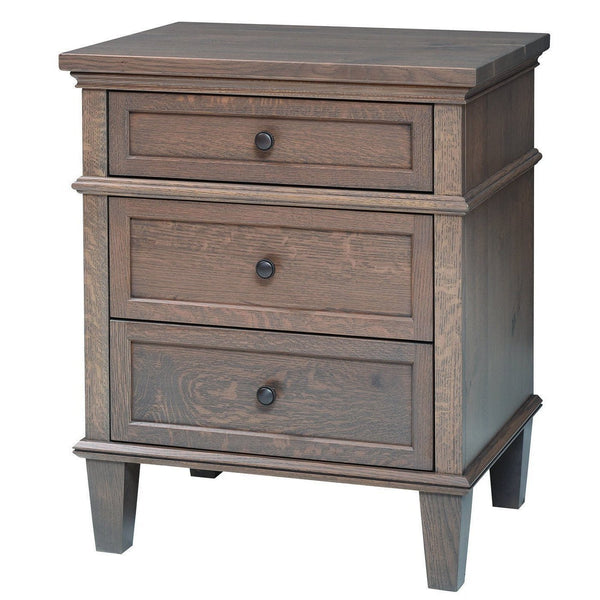 Rockport Three Drawer Nightstand-Bedroom-The Amish House