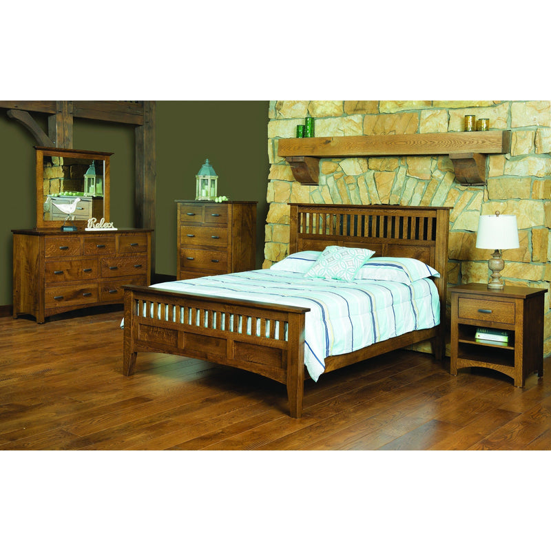 Siesta Mission Nightstand-Bedroom-The Amish House