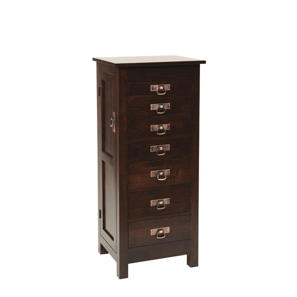 Brown Maple Mission Jewelry Armoire