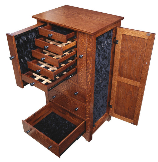 Amish Bungalow Mission Jewelry Armoire