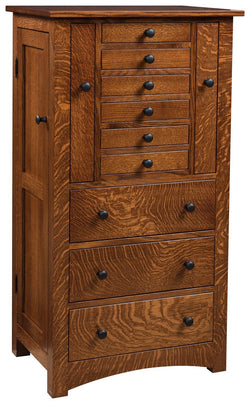 Bungalow Mission Jewelry Armoire