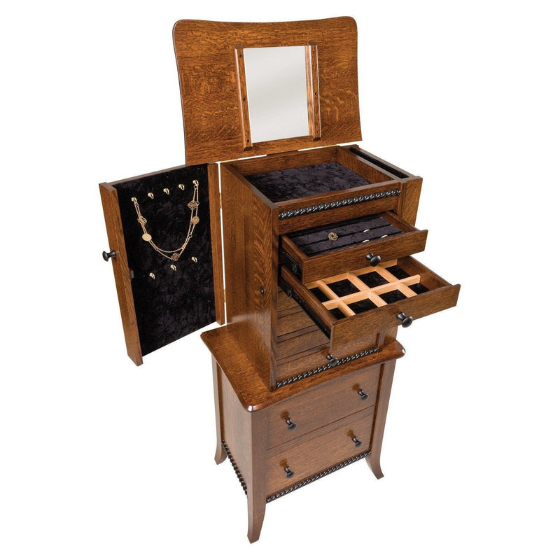 Bunker Hill Jewelry Armoire-Bedroom-The Amish House