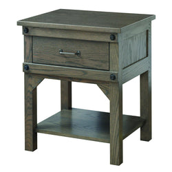 Cambridge One Drawer Nightstand-The Amish House
