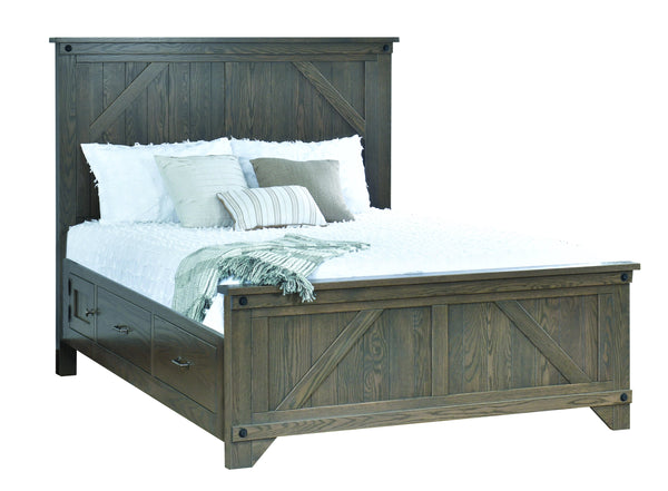 Cambridge Bed with Drawer-Bedroom-The Amish House