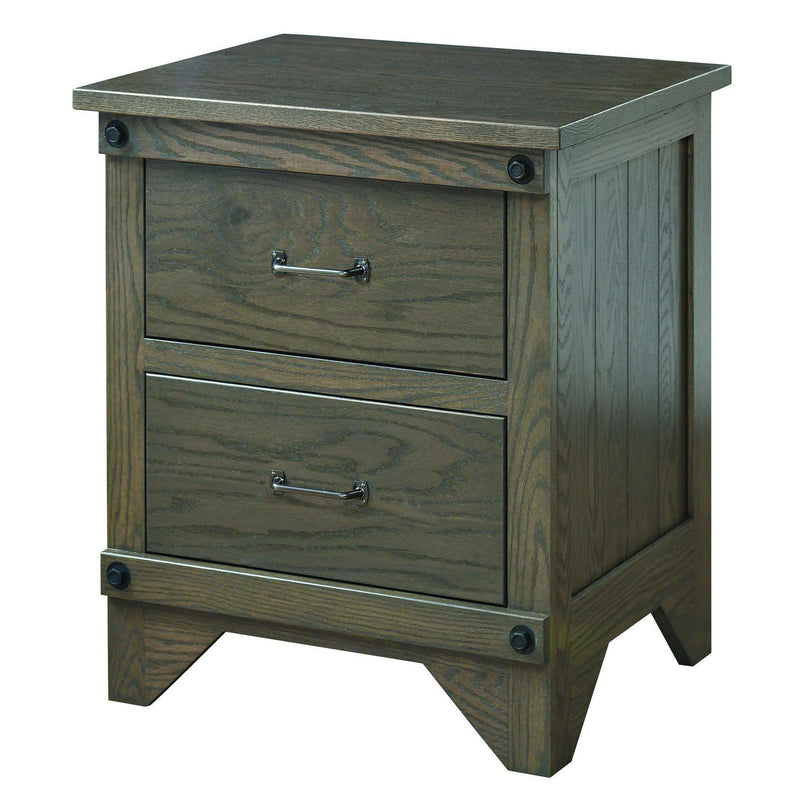Cambridge Two Drawer Nightstand-The Amish House