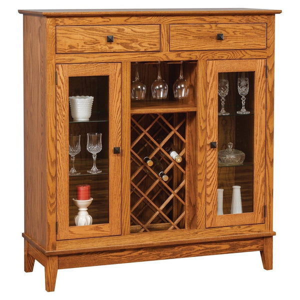 Amish Canterbury Wine Cabinet