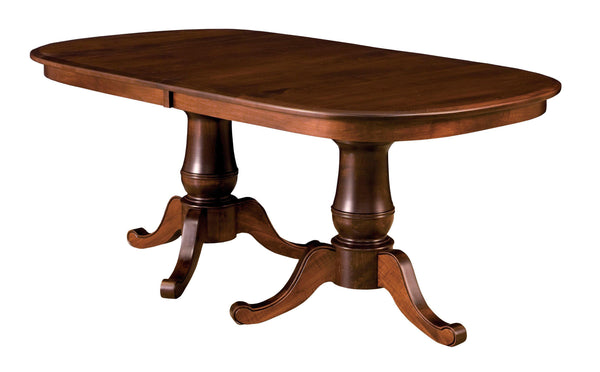 Chancellor-Double -Pedestal- table-The Amish House