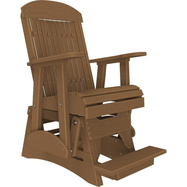 2' Classic Balcony Glider Antique Mahogany-The Amish House