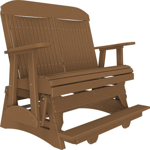 4' Classic Balcony Glider Antique Mahogany-The Amish House