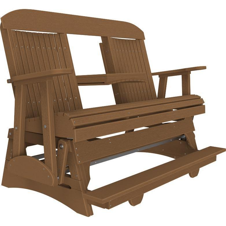 5' Classic Balcony Glider Antique Mahogany-The Amish House