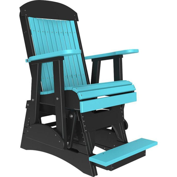 2' Classic Balcony Glider Aruba Blue & Black-The Amish House