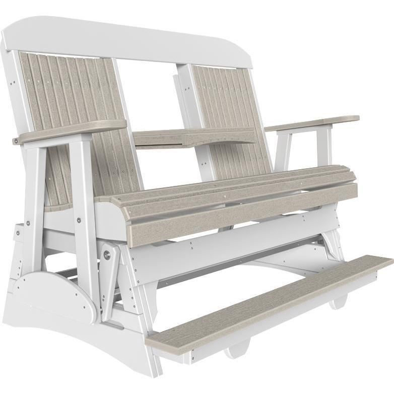 5' Classic Balcony Glider Birch & White-The Amish House
