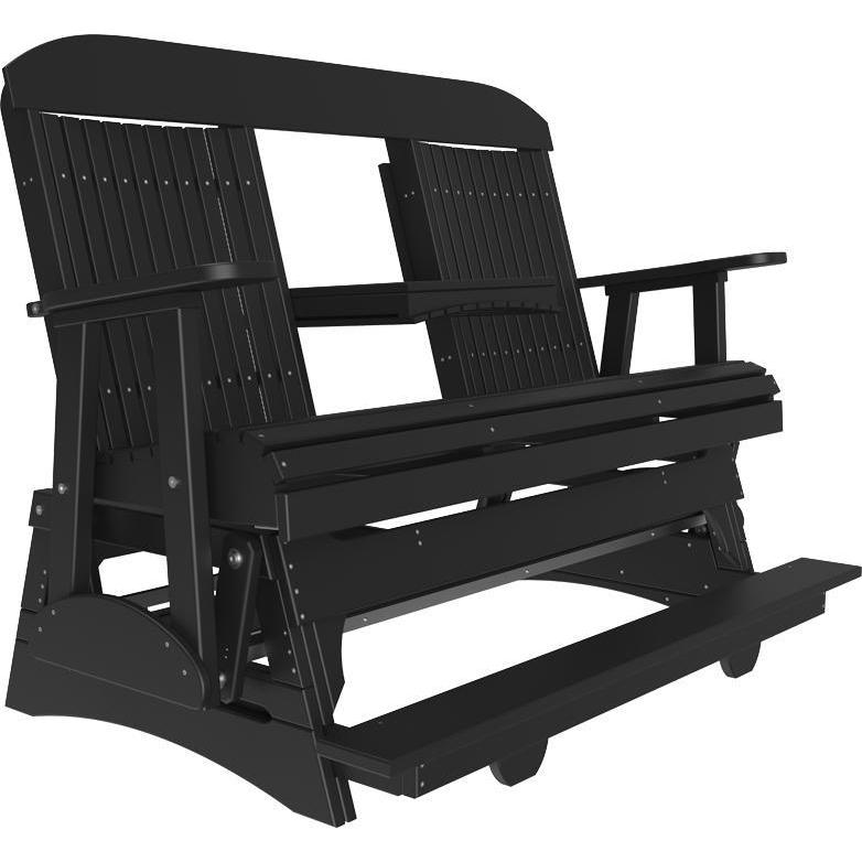 5' Classic Balcony Glider Black-The Amish House