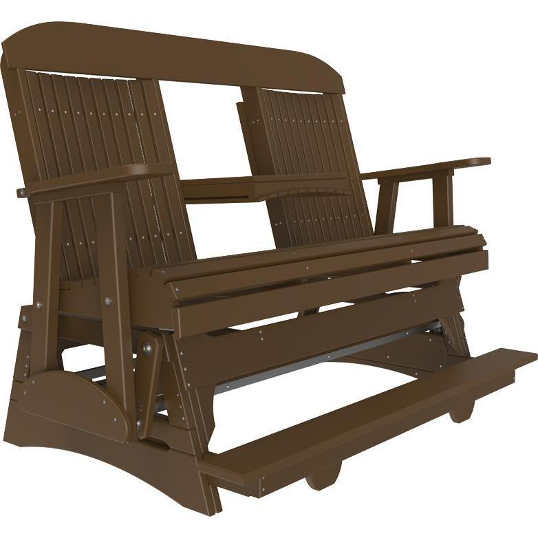 5' Classic Balcony Glider Chestnut Brown-The Amish House