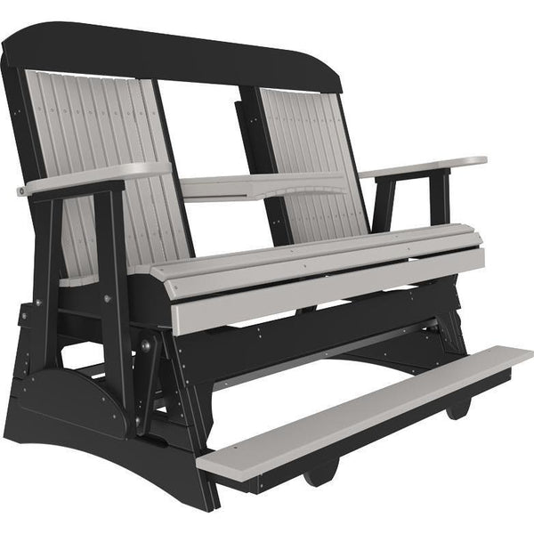 5' Classic Balcony Glider Dove Gray & Black-The Amish House