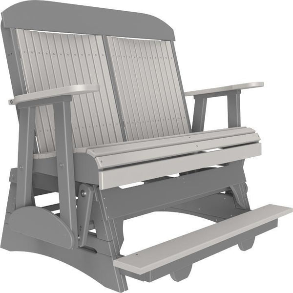 4' Classic Balcony Glider Dove Gray & Slate-The Amish House