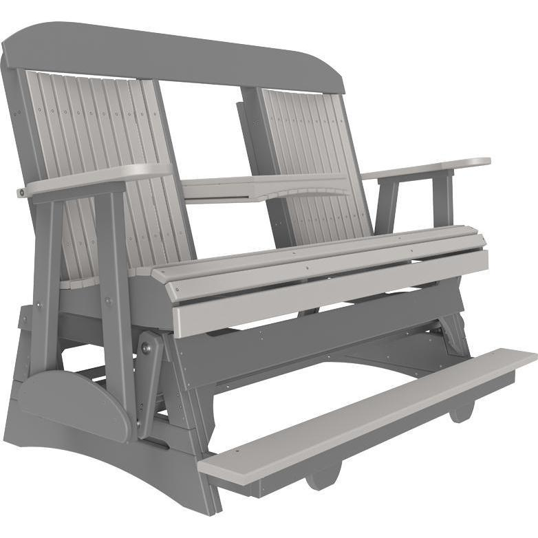 5' Classic Balcony Glider Dove Gray & Slate-The Amish House