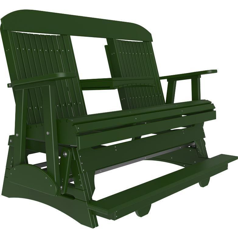 5' Classic Balcony Glider Green-The Amish House