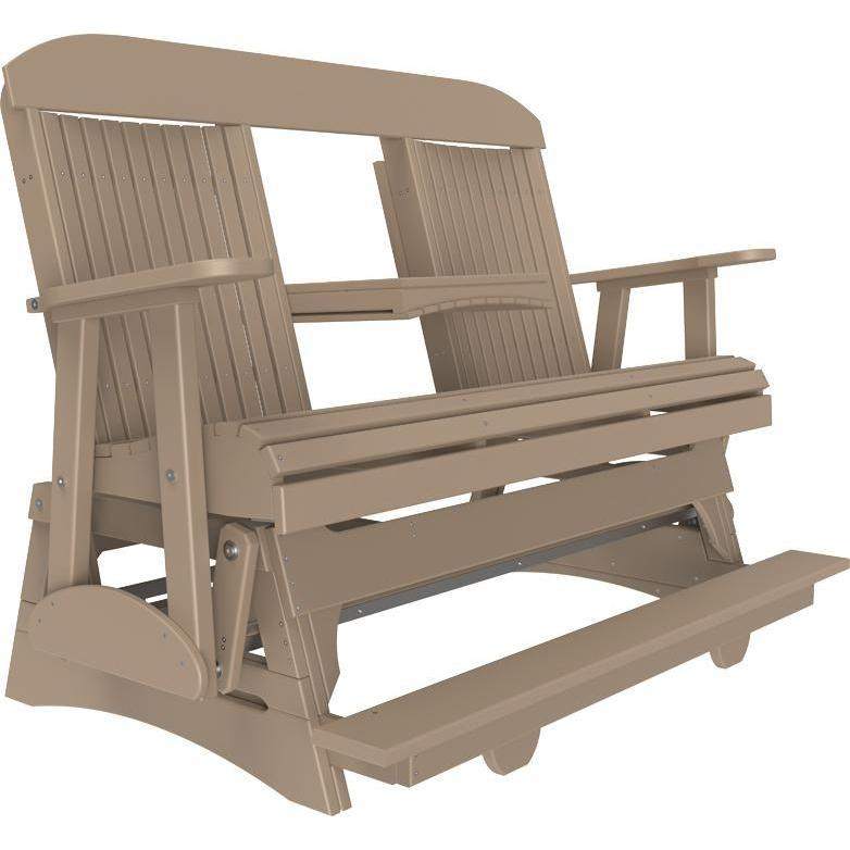 5' Classic Balcony Glider Weatherwood-The Amish House
