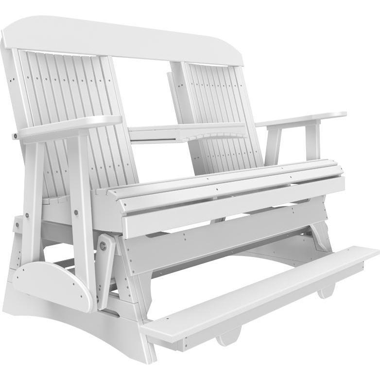 5' Classic Balcony Glider White-The Amish House