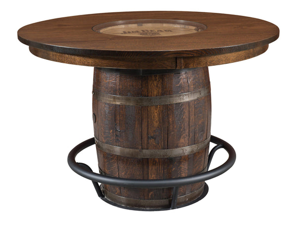 Clermont-Single Barrel-Pedestal- Table-The Amish House