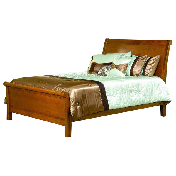 Crescent Sleigh Bed-The Amish House