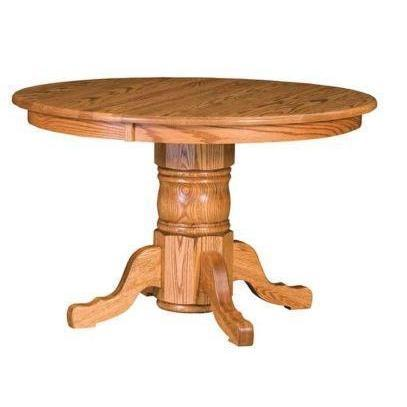 Amish Adams Single Pedestal Table