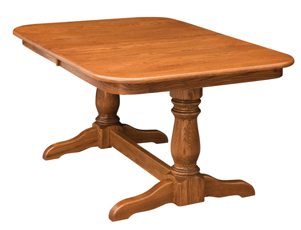 Dutch-Double Pedestal table-The Amish House