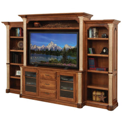 Jefferson Media Center with Bookcases