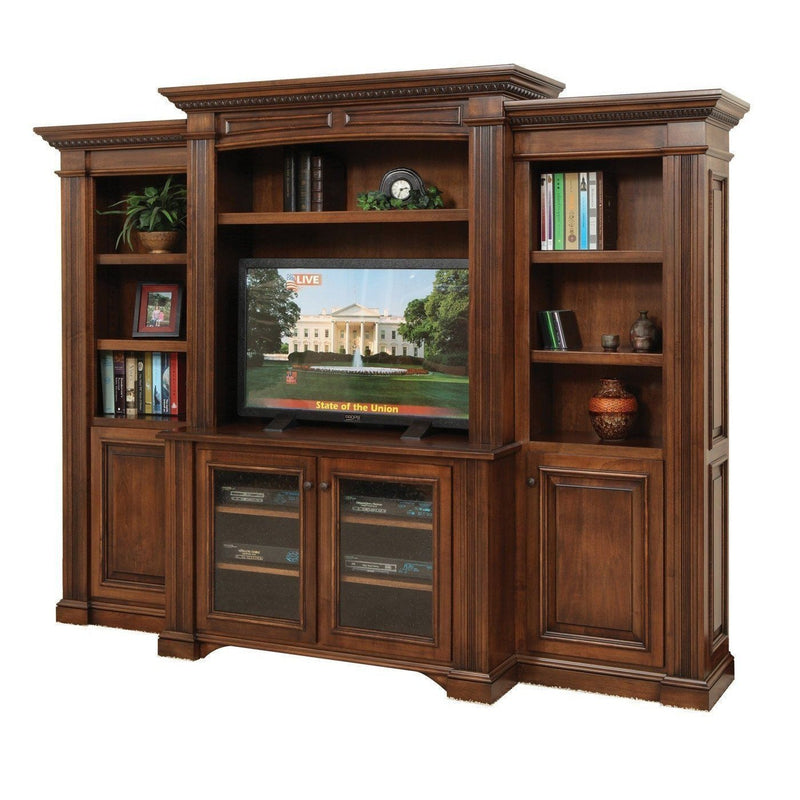 "Lincoln 48"" Media Center with Bookcases"