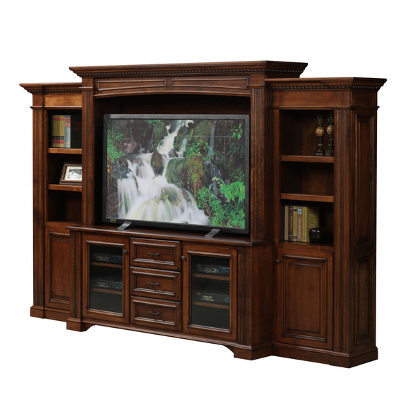 Lincoln Media Center with Bookcases