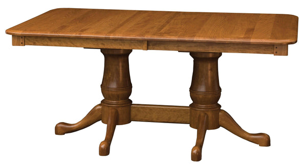Estate Double Pedestal table-The Amish House