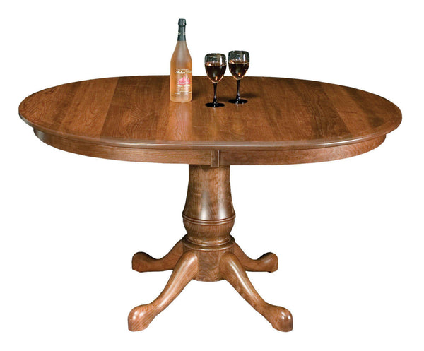 Estate Oval Single Pedestal Table-The Amish House