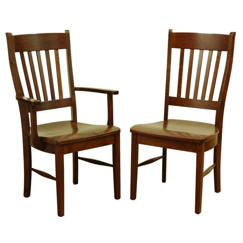 Rustic Frontier Side Chair-Dining-The Amish House