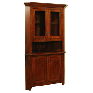 Rustic Frontier Corner Hutch-Dining-The Amish House
