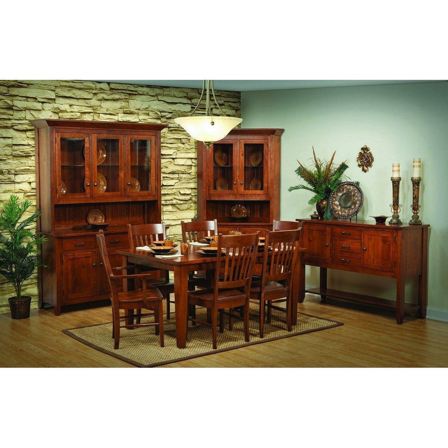 Rustic Frontier Three Door Hutch-Dining-The Amish House
