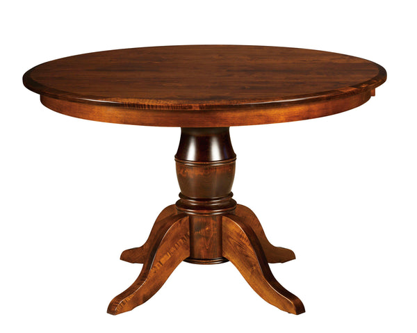 Harrison Single Pedestal Table-The Amish House