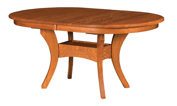 Imperial Double Pedestal Table-The Amish House
