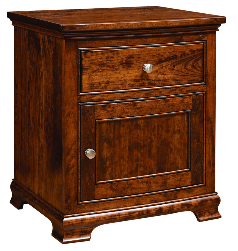 Jamestown One drawer and one door nightstand in cherry wood